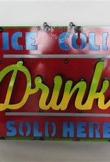 """Ice Cold Drink Screen 23""""L X 1""""W X 19""""H"""