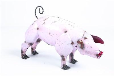 """Pig Pink Tin Jumbo 31""""H x 48""""L x 20""""W"""