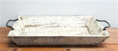 Square Wood Tray 3.5''H x 22''L