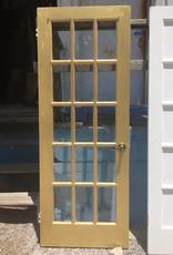 """Gold 15 Panel Glass Door 79 1/9"""" x 29 7/8"""""""