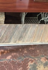 Reclaimed Cypress White Bench