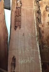 """Cedar Slab 13"""" x 106"""" x 2"""""""
