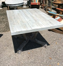 White wash cypress table