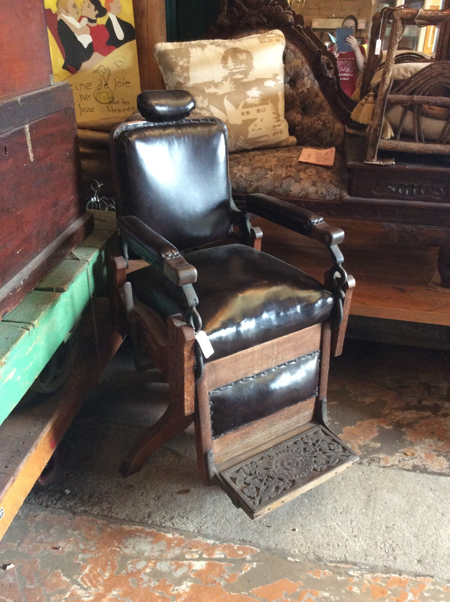Turn Of The Century Koken Barber S Chair Sarasota Architectural Salvage 1093 Central Ave Sarasota Fl 34236