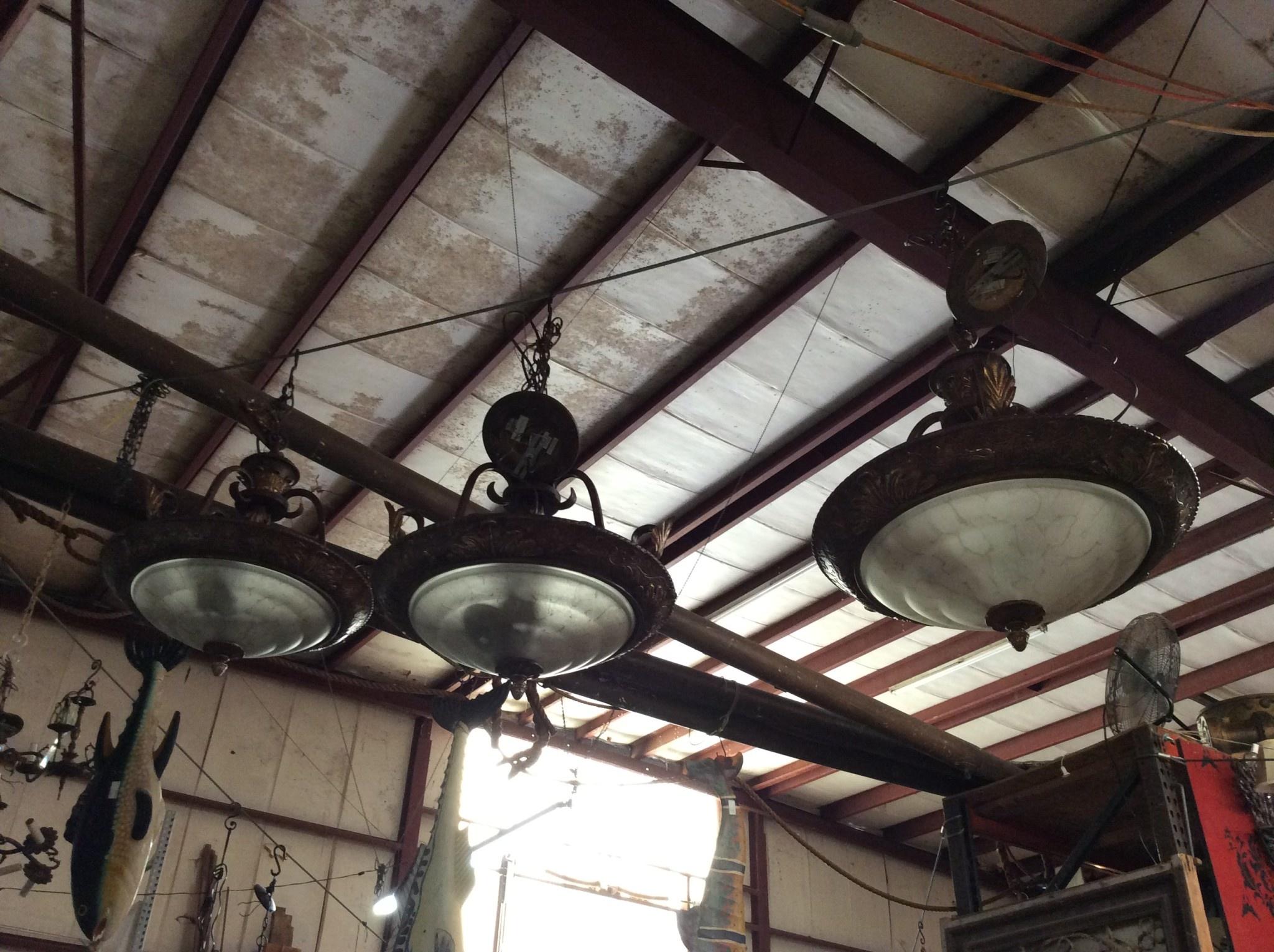 Small bronze chandelier