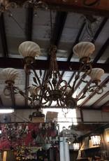 Gold vine 6 light chandelier