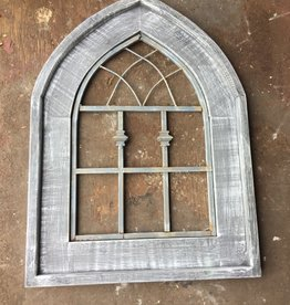 Wide Wood Window W/ Metal insert