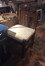Carved chair w/ white cushion
