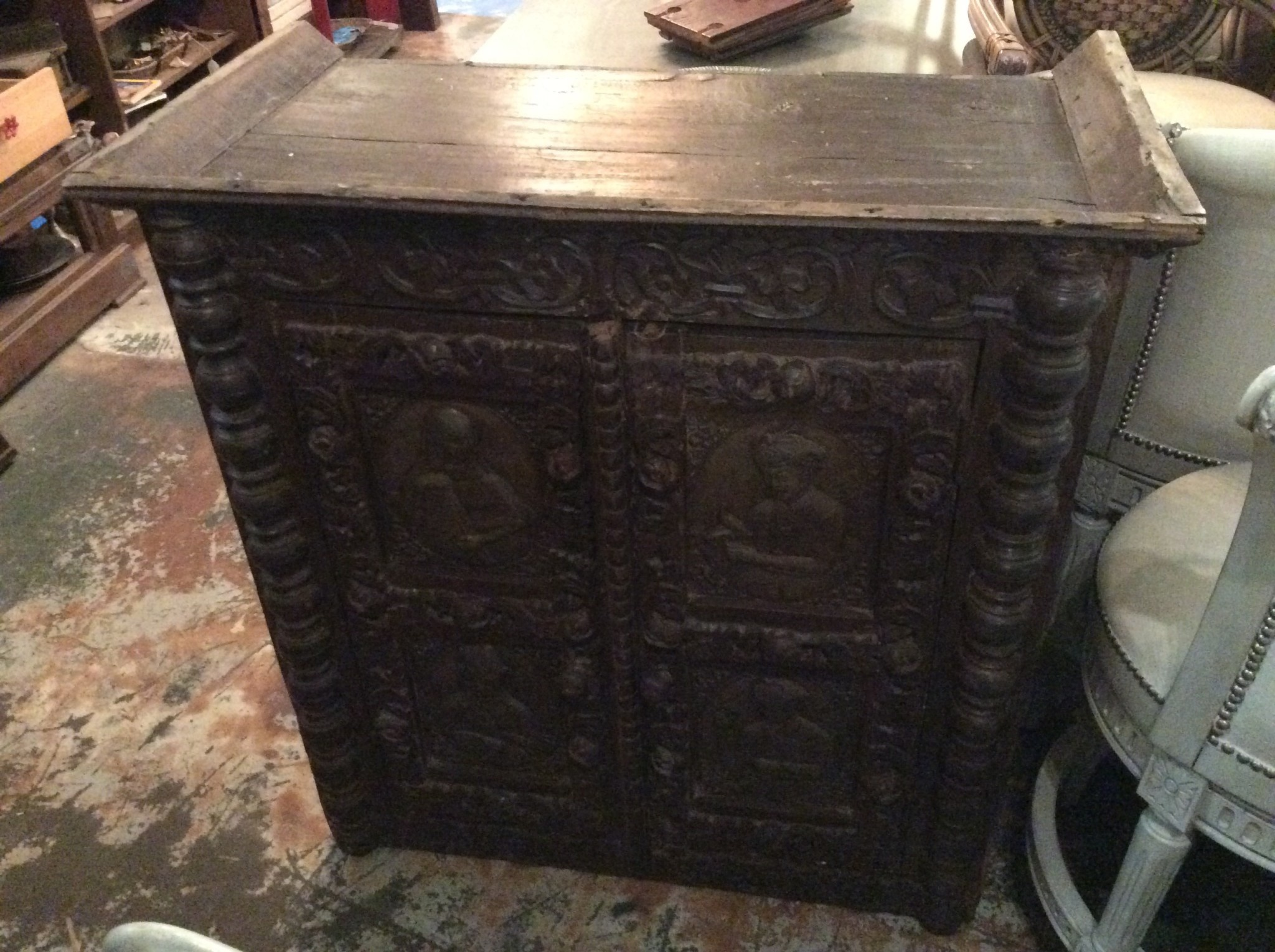 Carved chest