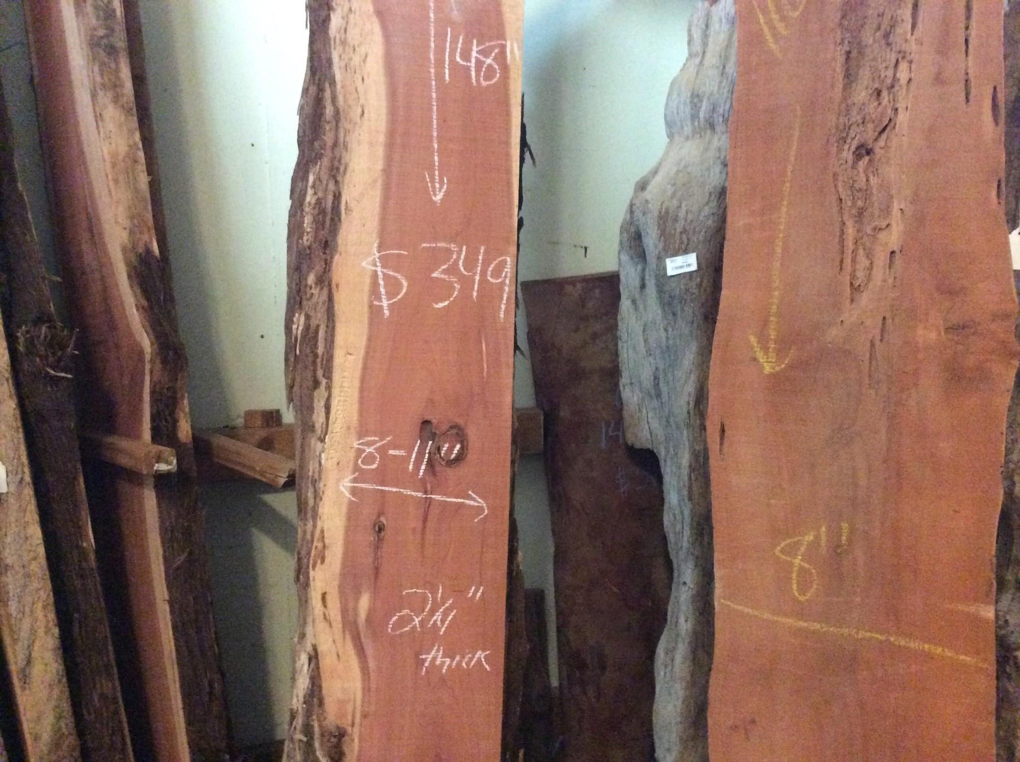 """Cedar Slab 8-11"""" x 148"""" x 2 1/4"""""""
