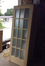 """15 Glass Panel Door Wood 30"""" x 80"""""""