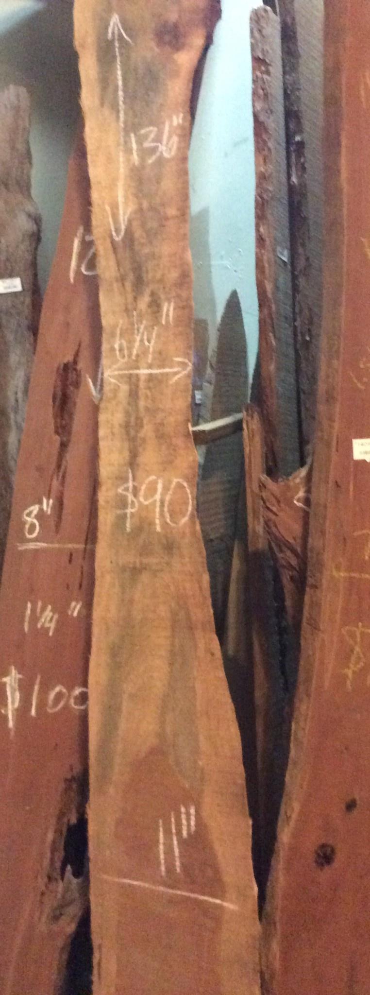 """CedarSlab 136"""" x 6 1/4-12"""" x 1"""""""