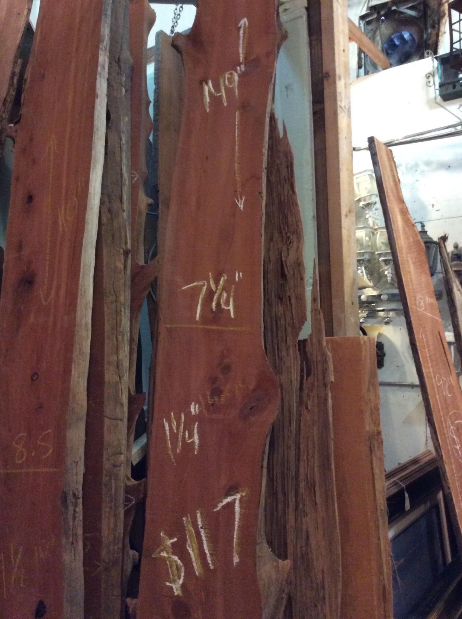 """Cedar Slab 149"""" x 7 1/4"""" x 1 1/4"""""""