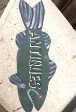 """ANTIQUE"" FISH SHAPE SIGN, VINTAGE"