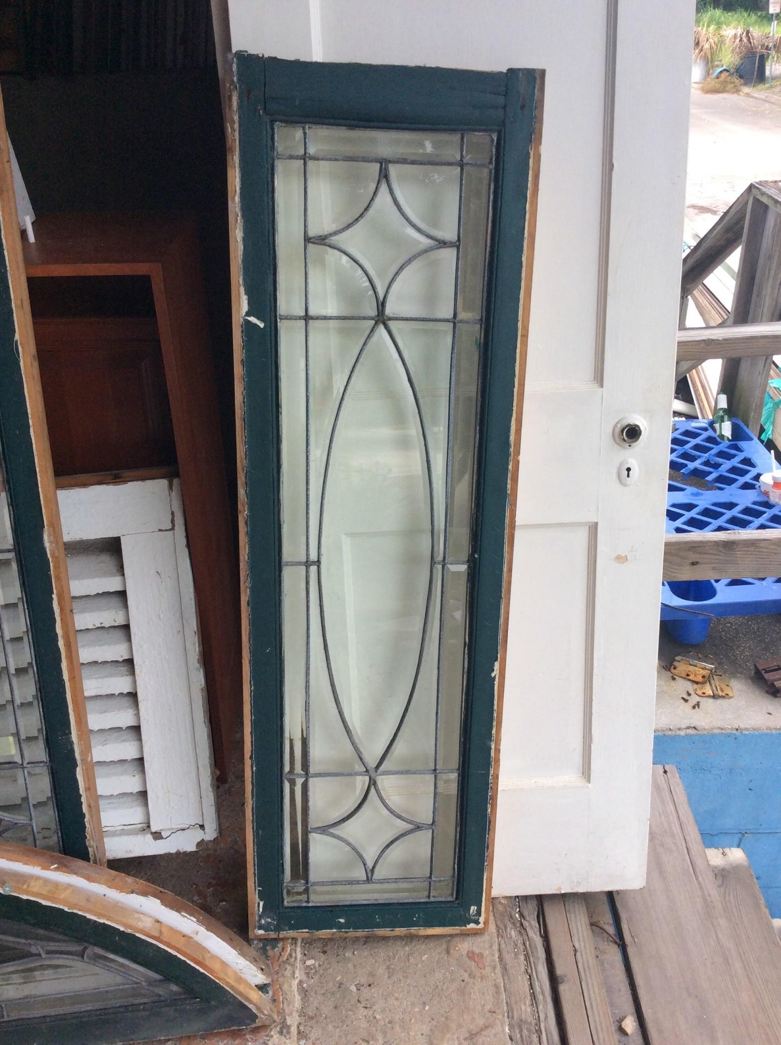 "Leaded Glass Window 16 1/4"" x 53"" Selby"