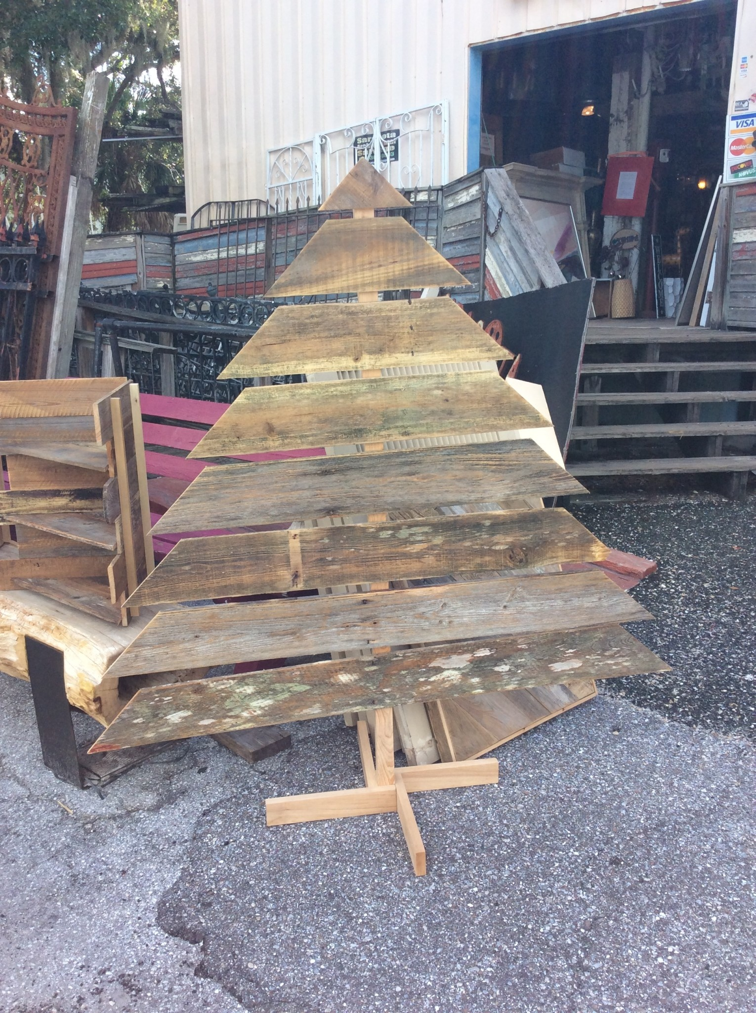 Xl Wood Christmas Tree Sarasota Architectural Salvage 1093 Central Ave Sarasota Fl 34236