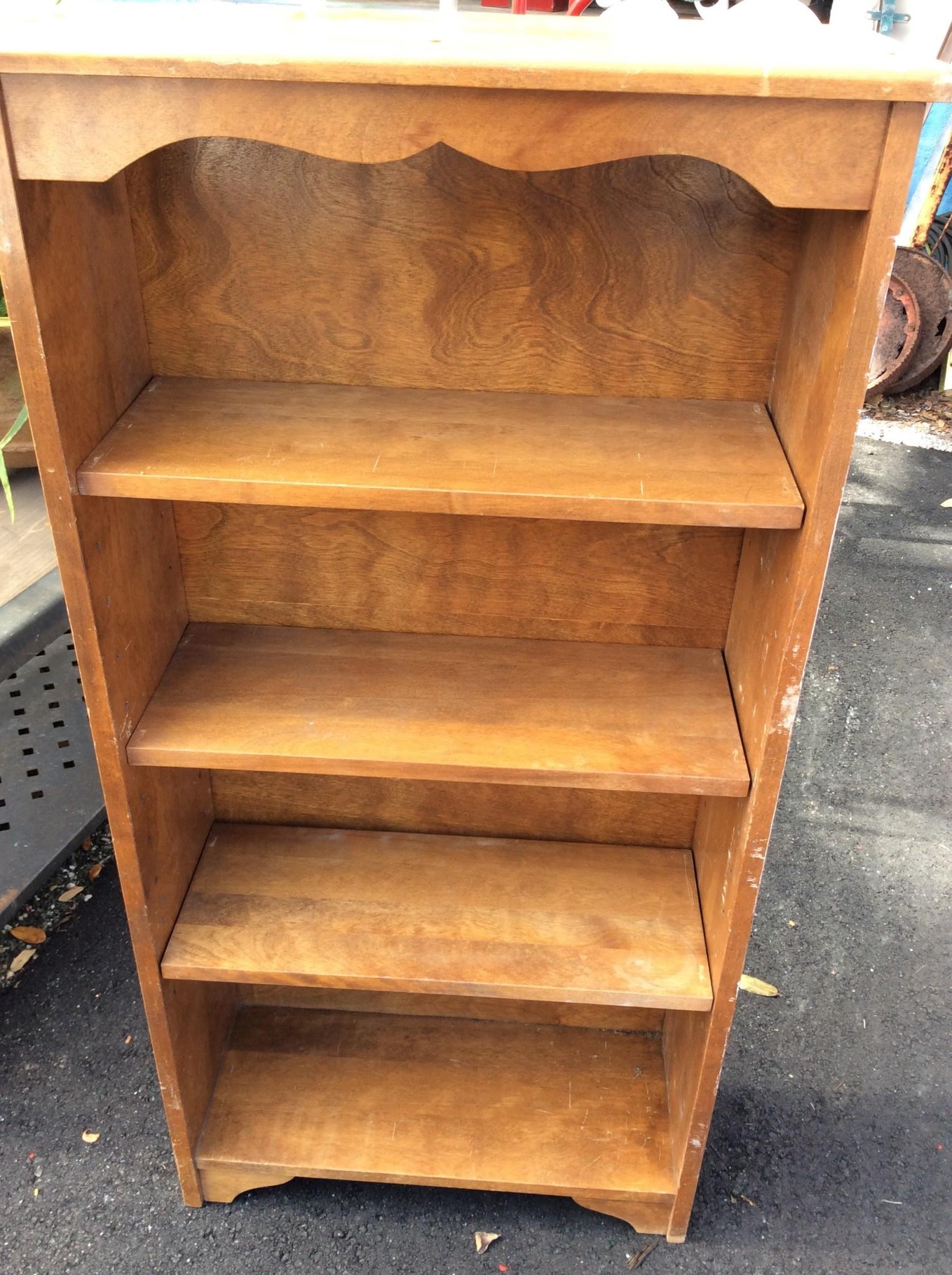 Vintage Bookcase 4ft high - Sarasota Architectural Salvage, 1093