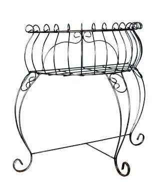 Half Oval Wall Plant Stand