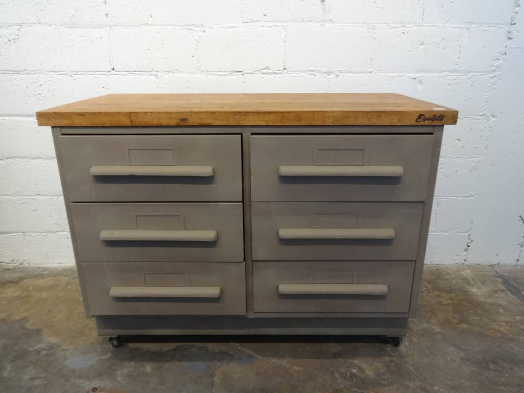 Rolling Metal Drawer Cabinet With Wooden Top Sarasota Architectural Salvage 1093 Central Ave Fl 34236