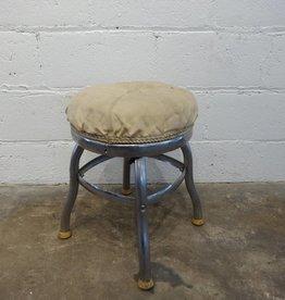 White Cushion Stool