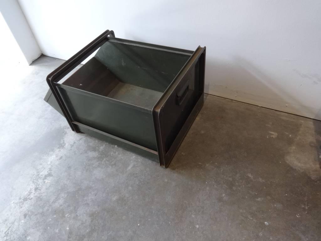 Green Metal Bin Drawer