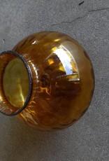 Vintage Golden Glass Globe / Vase
