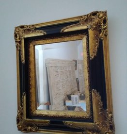 Ornate Gold & Black Frame Mirror