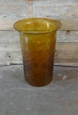 Golden Glass Tube Vase
