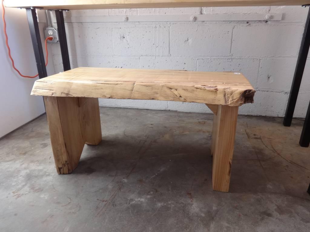 Maple Live Edge Bench
