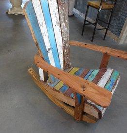 Teak Fishing boat Rocking Chair