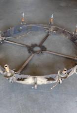4' Round Iron 8 Light Chandelier