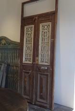 Brown Egyptian Gates w White Iron