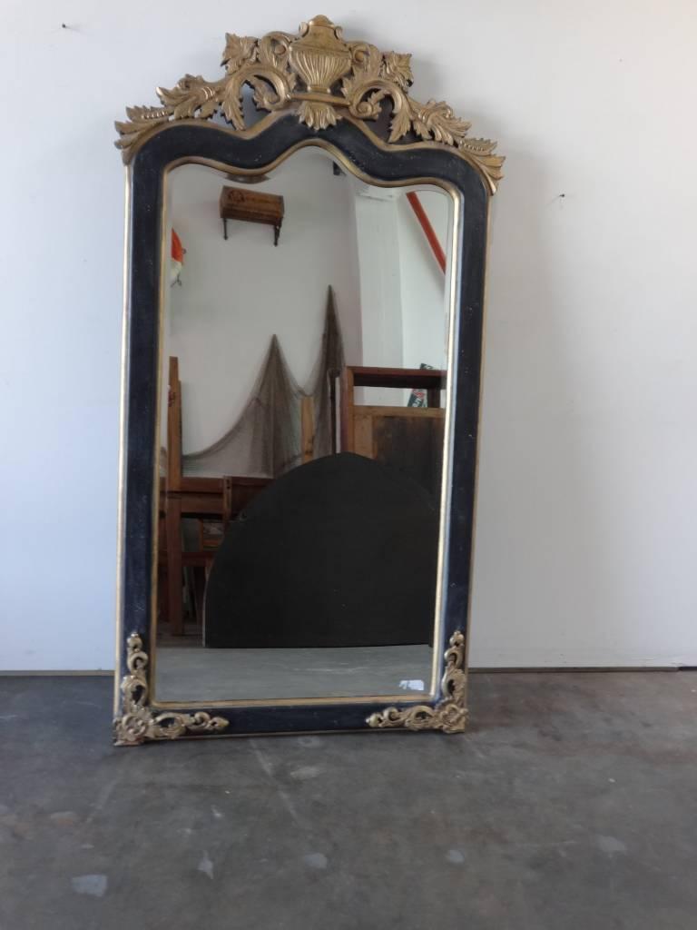 Black & Gold Ornate Mirror