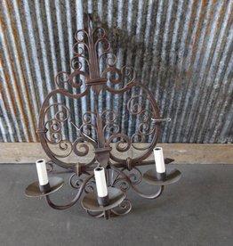 Triple Iron Lamp Sconce
