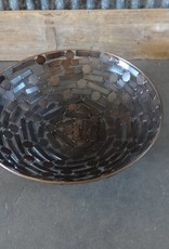 Bowl made from Metal Circles & Rectangles