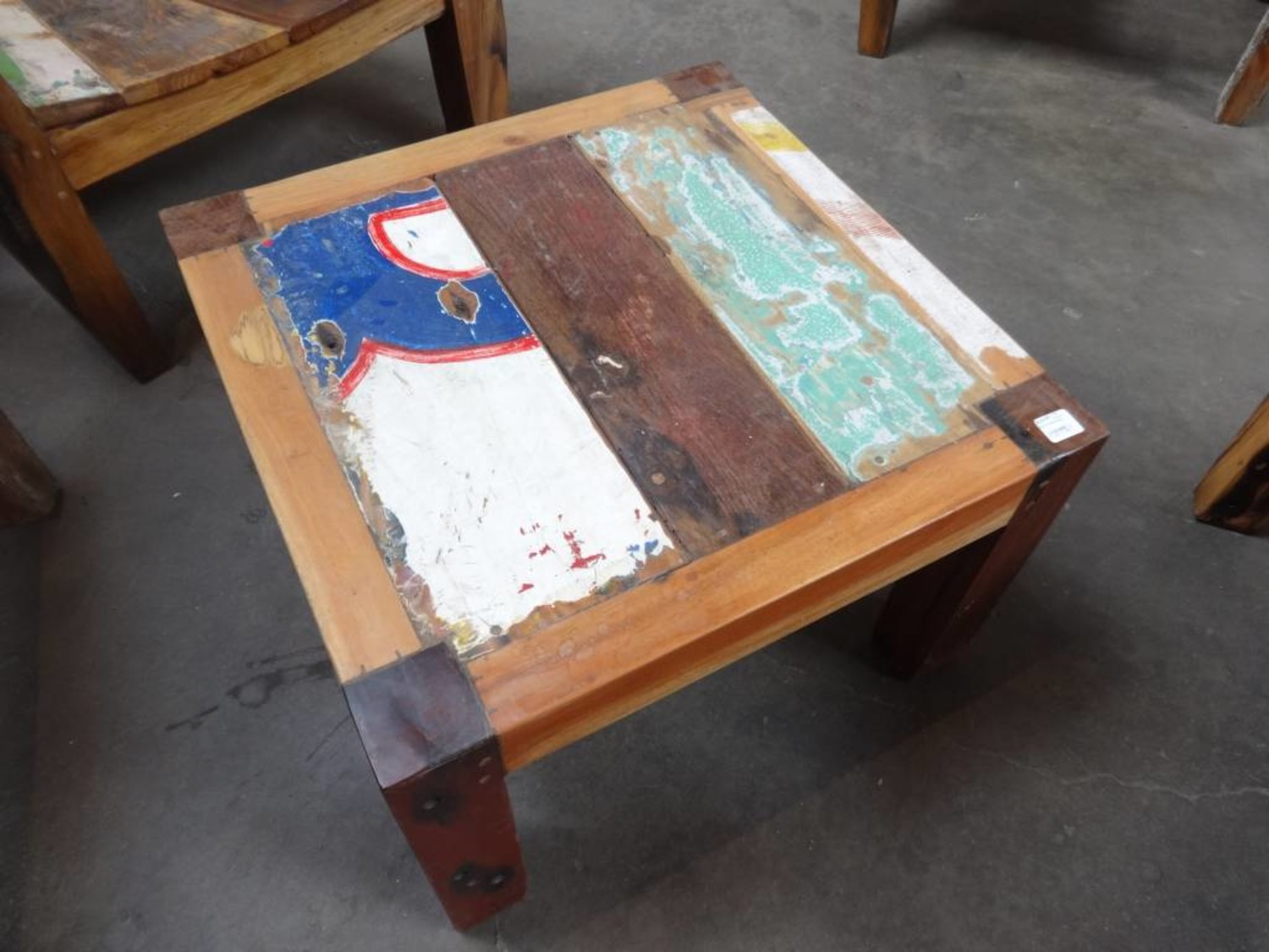 - Small Square Boat Coffee Table - Sarasota Architectural Salvage