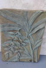 Floral Concrete Plaque