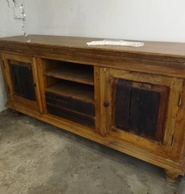 Reclaimed Teak and Mesquite console