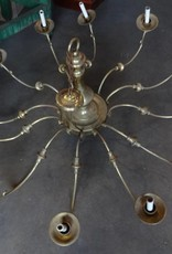 Large 12 light brass chandelier