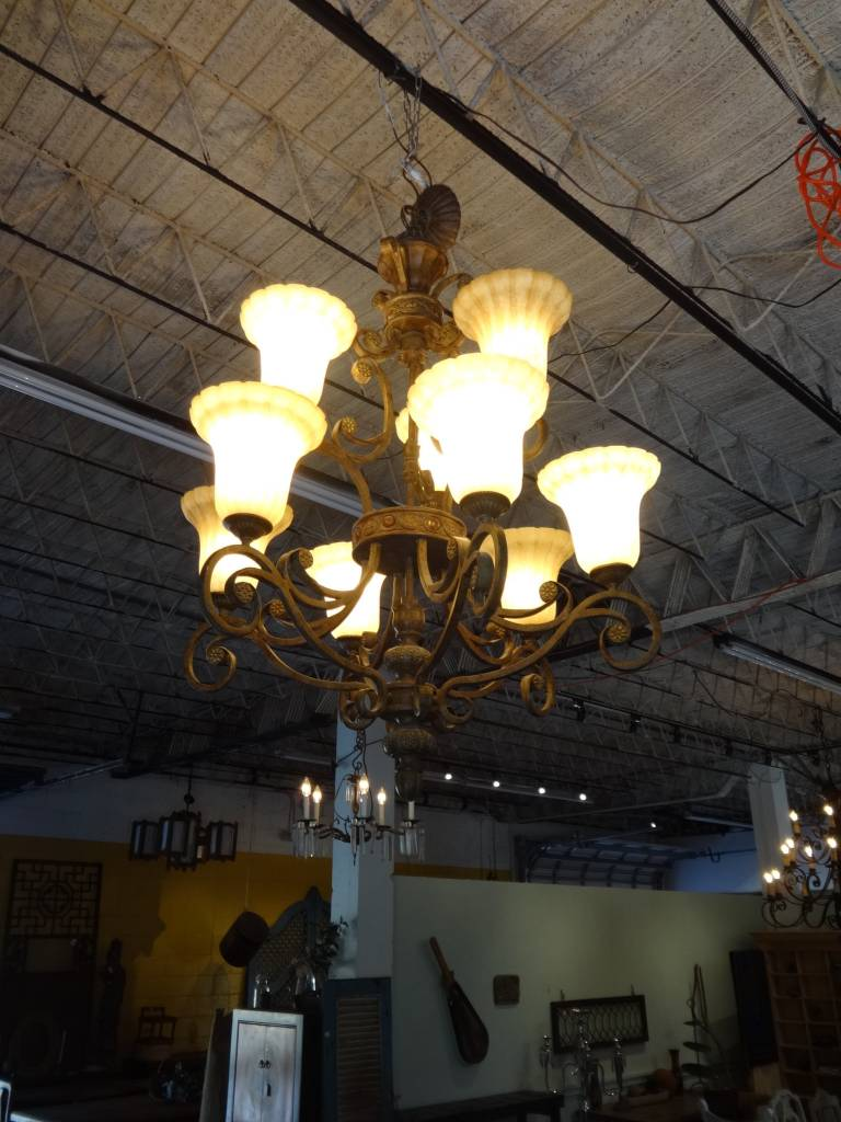 Cream 9 Light Chandelier