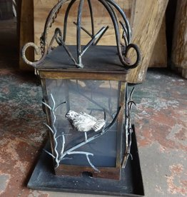 Iron Glass Pane Bird Feeder