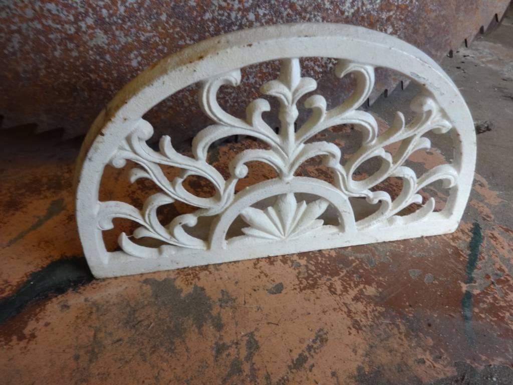 Iron Ornate White Door Stop