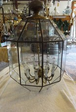 30 Glass Panel 10 Light Chandelier