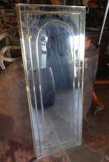 48X18 Brass Framed Mirror w/ Arch