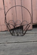 Small Wire Iron Oval Egg Basket 14x13
