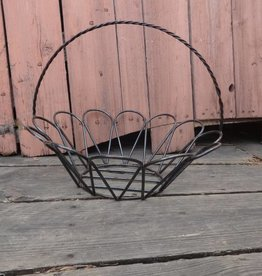 Large Wire Iron Round Egg Basket 14x17
