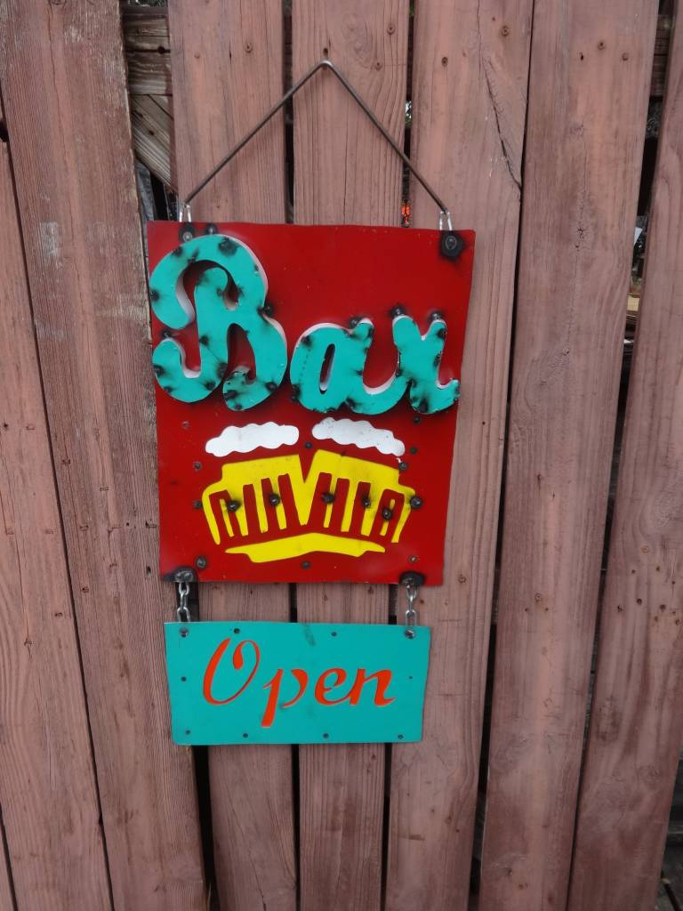Bar Open Tin Sign 38X16