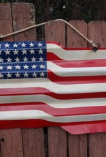 American Flag Tin Sign 24x44