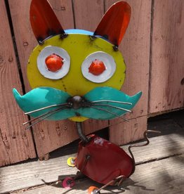 Tin Bobble Head Cat 18x13