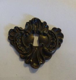 Brass Ornate Skeleton Key Lock Plate